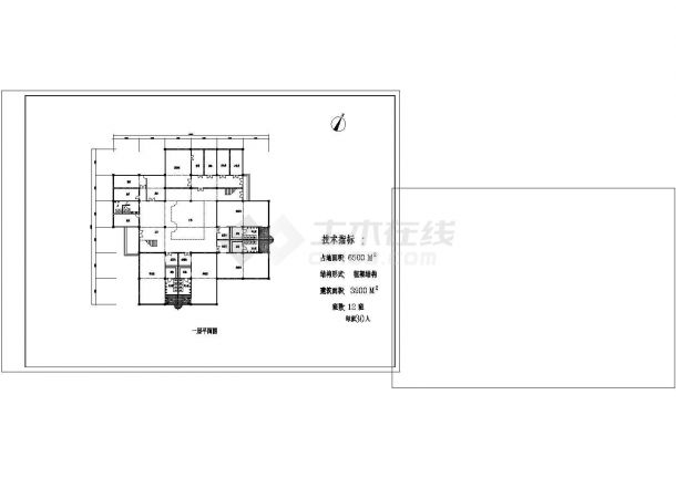 YOKA工作室建筑设计施工图2(平面图、立面图cad中心线绘制如何快速图片