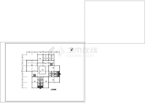 YOKA工作室建筑设计施工图2(平面图、立面图马的机构设计图图片