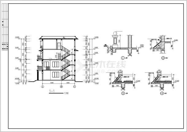 屋顶四层平教程自建房屋建筑设计全套框架图纸室内设计图片