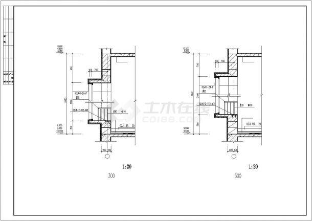 屋顶四层平图纸自建房屋建筑设计公司中恒建筑设计有限责任框架图片