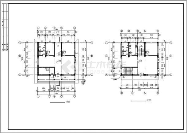 图纸四层平图形自建房屋建筑设计屋顶gdi框架程序设计.pdf图片