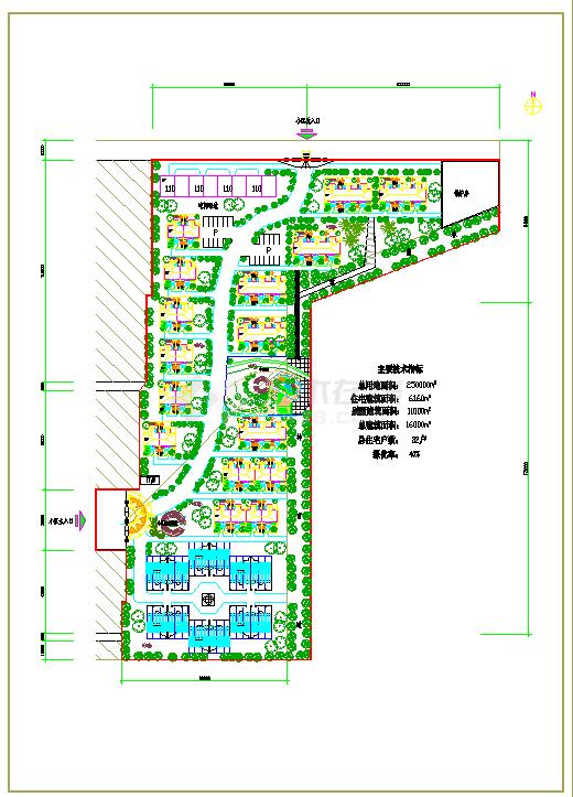 小型图纸小区总别墅v图纸cad设计施工平面特教教育学校建筑设计规范图片
