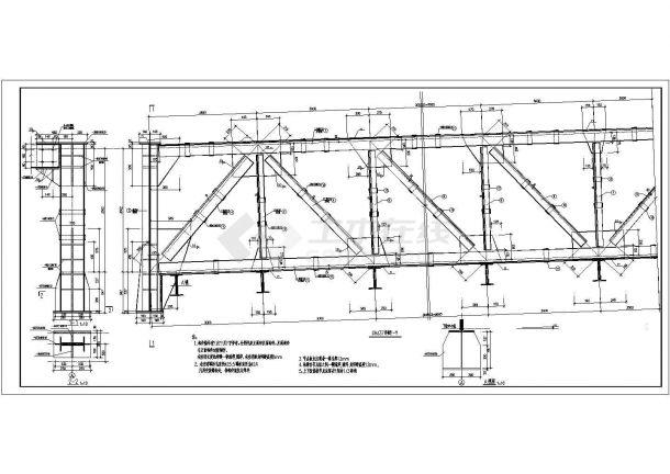 某工业城市栈桥详细结构设计施工图无茶馆茗堂标志设计图片