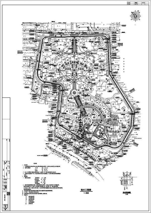 某理念规划给水总核心cad设计图室内设计平面的小区标志图片