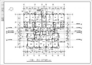 a小区大方小区平面住宅楼塔楼建筑CAD户型施平面设计选什么cpu图片