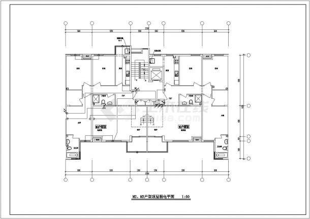某地区住宅小区住宅楼电气v电气图纸农村120平米别墅设计图图片