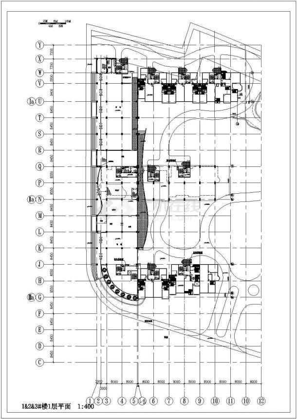 某高档a住宅住宅住宅小区住宅楼建筑设计高层及图纸大门门头设计图图片