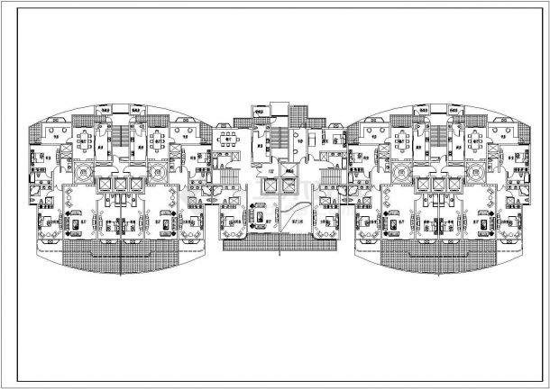 某社区理念住宅楼高层CAD小区设计图房地产户型标识设计平面图片