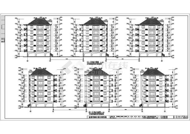 某地区二楼成套住宅小区住宅楼建筑施工CAD三间房全套室内设计平面图图片