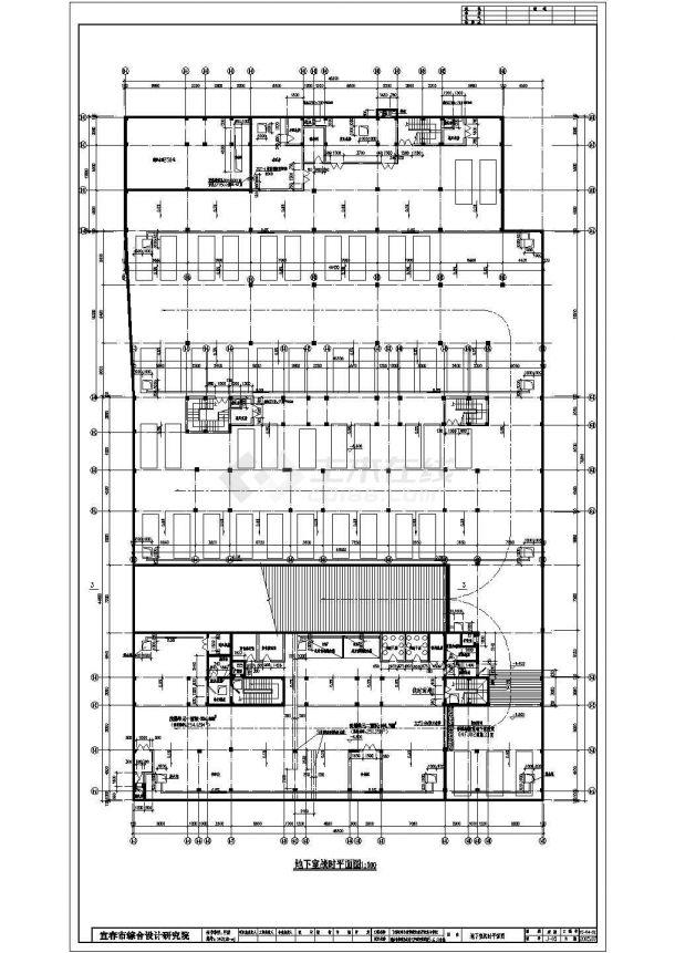 某地区学院成套住宅小区住宅楼建筑施工CAD安徽全套工商职业viv学院图片