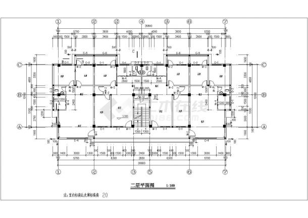 某四层板式一梯二南梯住宅楼建筑施工图v题目包装设计题目论文图片