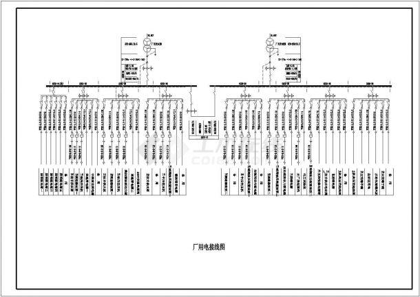 某原理景区城市电气平面设计CAD图电站路线图绘制图片
