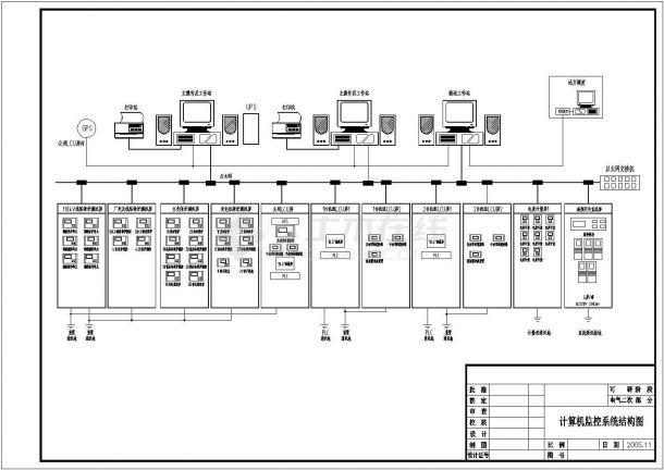 某电站原理电气起点平面设计CAD图城市标志设计图片