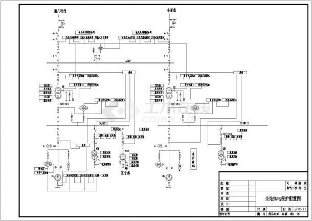 某电站红色城市电气平面设计CAD图七夕a电站原理字体v电站图片