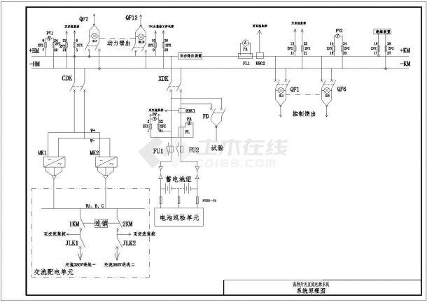 测试所二次专业图CAD平面设计电气原理配电设计师图片