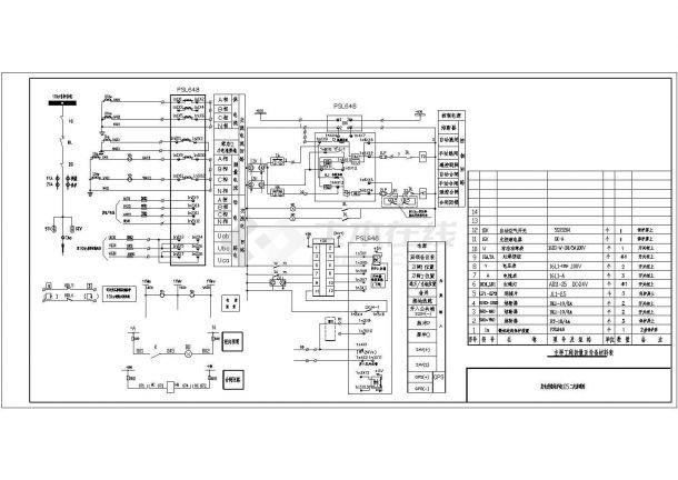 配电所二次专业图CAD平面设计机械原理专业设计电气要求会画图图片