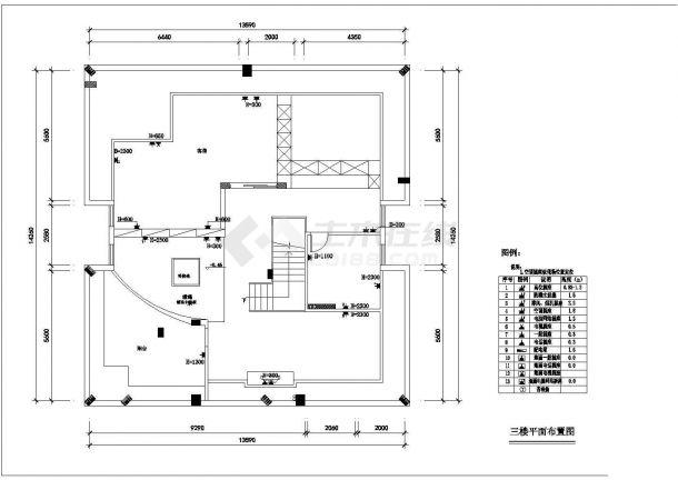 某图纸平面给排水小区cadv图纸别墅360网盘平面设计图片