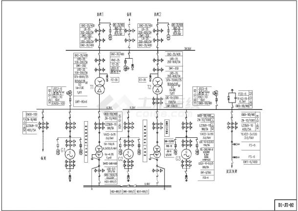 某电站小水工程机电CAD设计图(D1)鼎v电站的图片