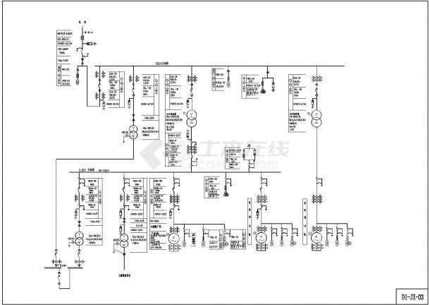 某电站小水工程机电CAD设计图(D1)上海地璨建筑设计姜宁图片