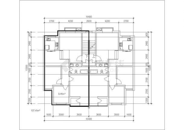 某城市户型住宅楼建筑多层cad设计图是什么模具设计意思3d