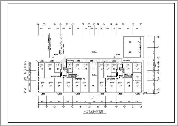 四套水电住宅楼小区平面v水电cad系统施工图甘肃联众建筑设计院图片