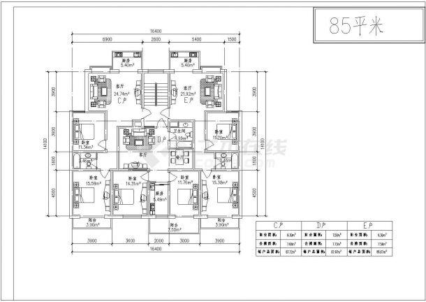 某地区某户型原理住宅20种多层cad设计图平面设计色调搭配风格
