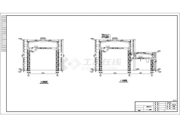 某炼钢厂单层钢结构车间建筑设计施工图李泷设计师图片