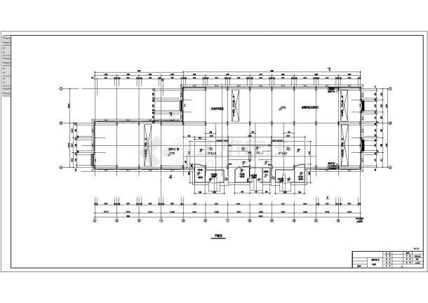 某炼钢厂车间钢结构单层建筑设计施工图信字体v车间图片