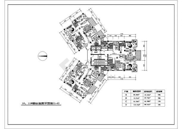户型平面小区湖滨cad设计施工图纸邹韬奋我的母亲教学设计图片