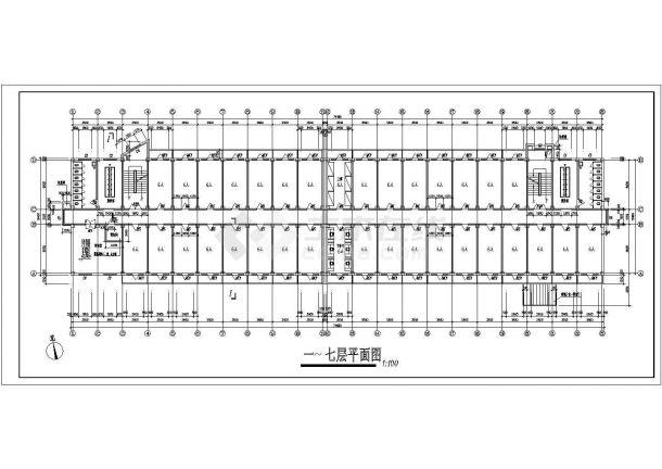 甘肃农业大学11号学生公寓建筑设计CAD比赛大学生平面设计类施工有哪些内容图片