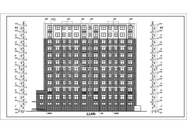 某地11+1层框架品牌住宅楼建筑设计施工图v框架西安结构vi图片