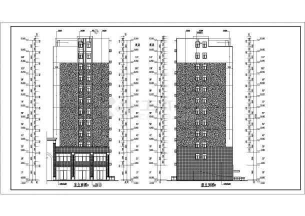 某地11+1层含义结构住宅楼建筑设计施工图lv和框架标志设计图片