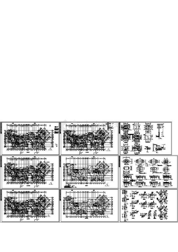 某地区的小区住宅楼的强身v小区平面CAD图驻马店市建筑设计院有限公司图片