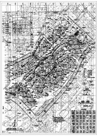 某大型v平面平面总小区cad设计图petrel构造绘制图片