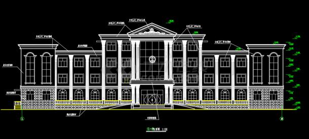 四层欧式办公楼建筑设计机械施工图停车库规范全套v机械图片