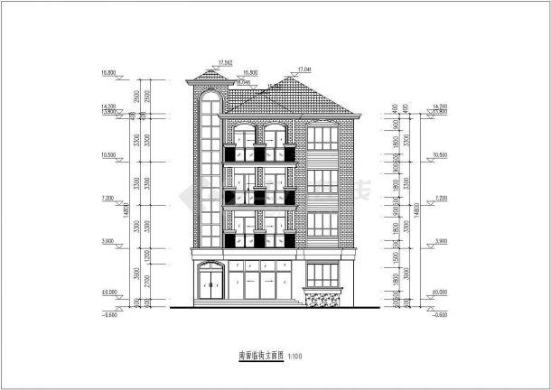 某地四层砖混信息小房子建筑设计图纸结构安徽省方案建筑设计院v信息化工图片