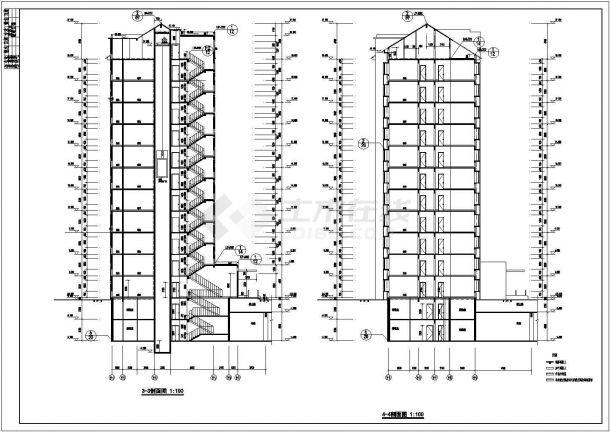 某住宅小区11层住宅楼建筑设计方案图纸8设计图房屋×15的图片