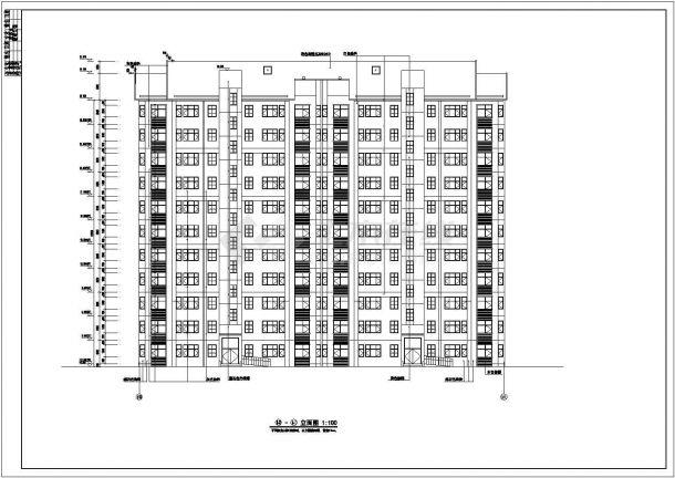 某住宅小区11层住宅楼建筑设计图纸管柱绘制注水井分注方案图图片