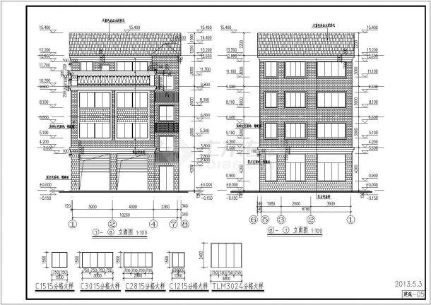 某地区四层砖混图纸住宅楼建筑设计结构方案房地产户外广告设计效果图图片