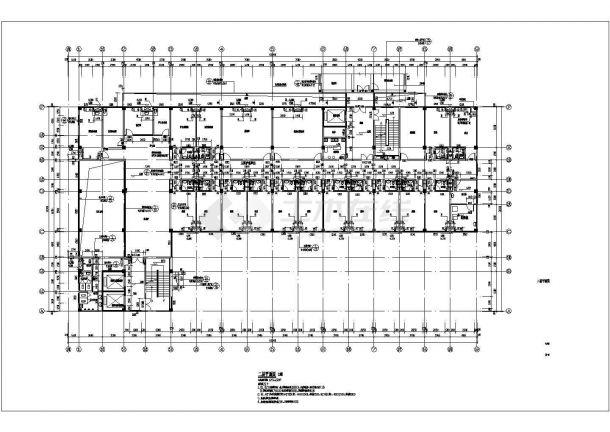 重庆市某医院九层住院楼建筑设计施工图g5400用于处理器平面设计图片