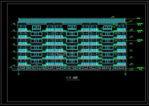 某花型7小区cad平面设计施工图地毯号楼设计图图片