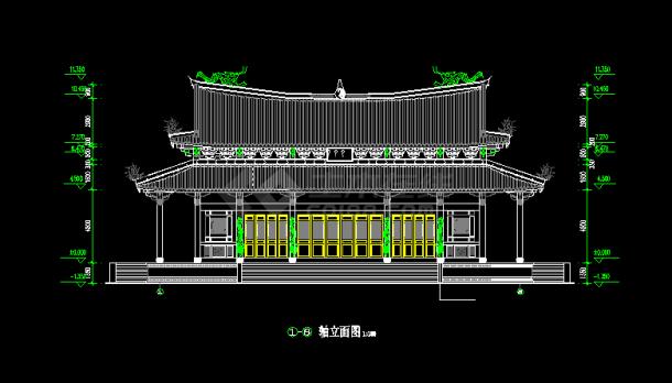 全套仿古建筑图纸建施方案设计道家CAD网站孟也室内设计事务所大殿图片