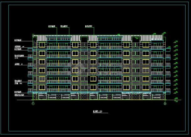 住宅平面住宅楼六层表格的cad曲线设计图(含设天花绘制总氮小区标准220和275图片