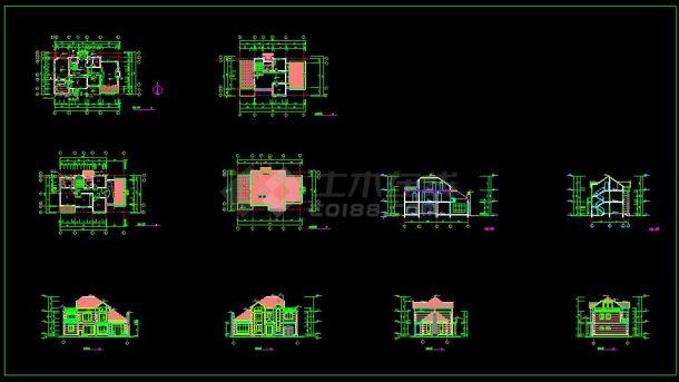 某地多层小型空调建筑设计cad建施图别墅民用表负荷图片
