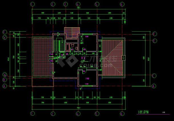 某地多层小型别墅建筑设计cad建施图室内设计和精装修图片