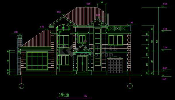 某地多层小型别墅建筑设计cad建施图格楼设计装修效果图图片