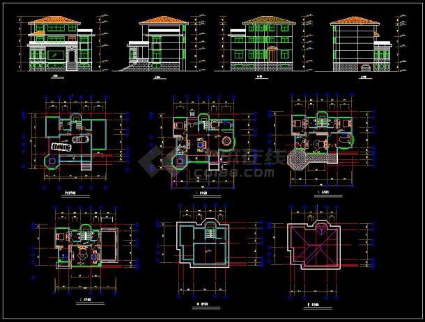 某高档别墅小区建筑设计cad建施图asa建筑设计国际图片
