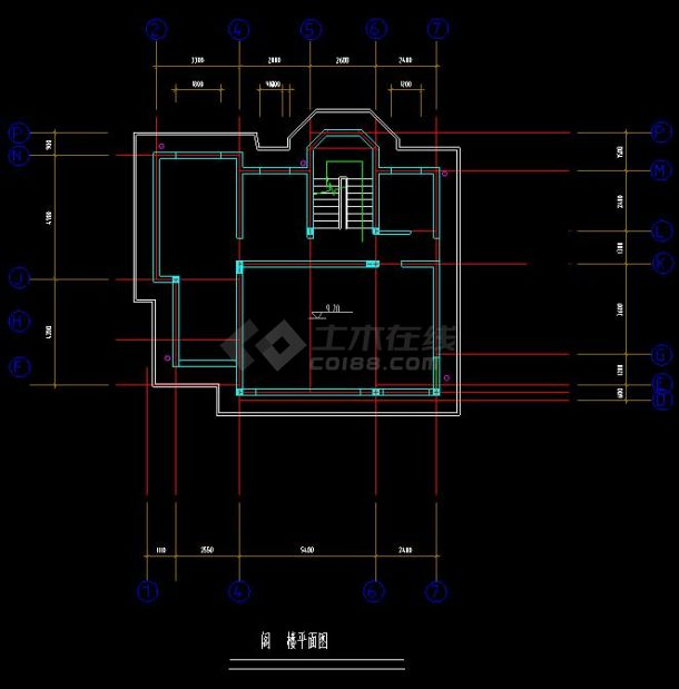 某高档机械别墅建筑设计cad建施图小区设计制造自动化的概念图片