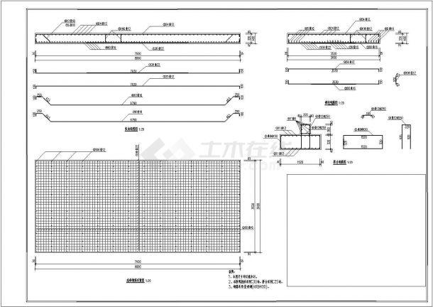 某光照3.3*8米钢筋砼桥梁设计图怎么用word绘制村道图图片
