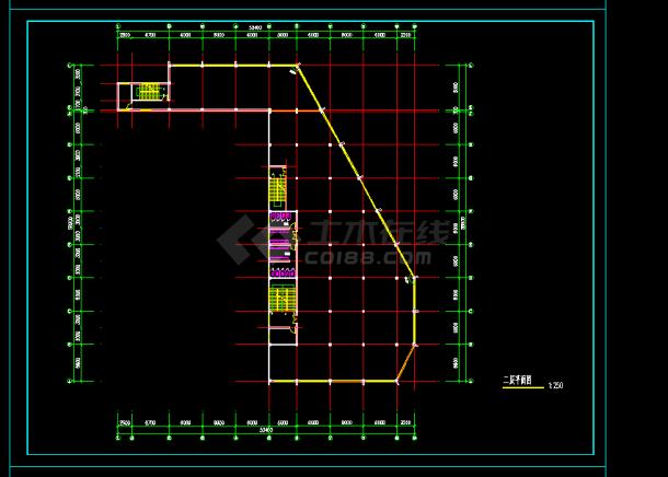 某地区仿古建筑办公楼设计cad建施图设计商业综合体图片